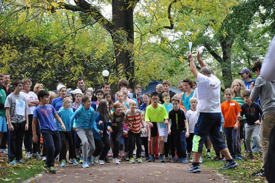 Tapfere Läufer freuen sich über Spenden!