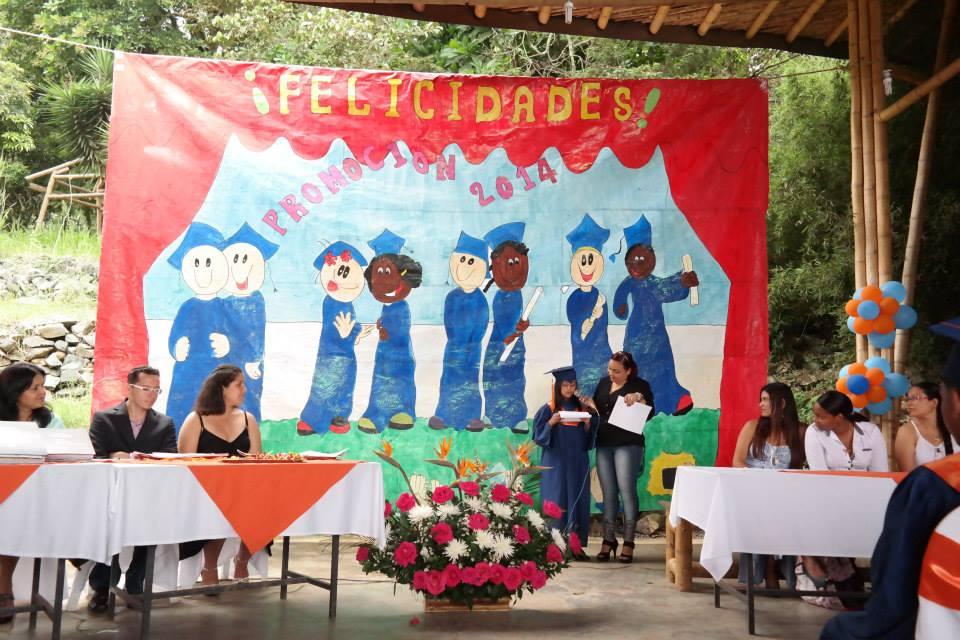 Abschlusszeremonie Colegio de las Aguas