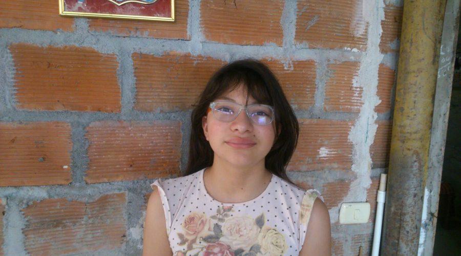 """Leidy Ortiz, Schülerin am Colegio de las Aguas Montebello<br /><em>""""Meine Geschichte""""</em>"""