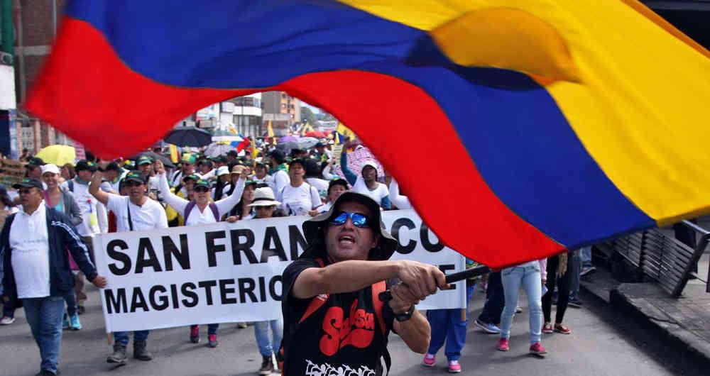 Lehrerstreik in Kolumbien