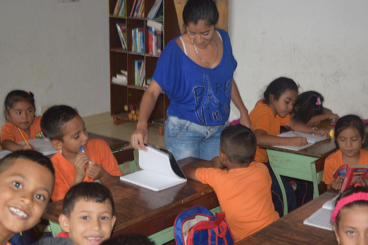 Jessicas Mitarbeit im Colegio de las Aguas